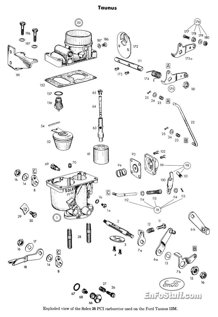 Carburador Ford Taunus Ghia