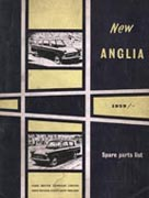 Ford Anglia 105E Parts list